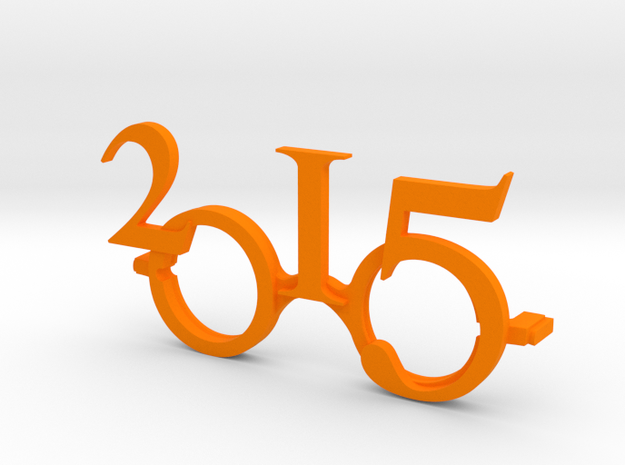 """2015""Frame front. in Orange Processed Versatile Plastic"