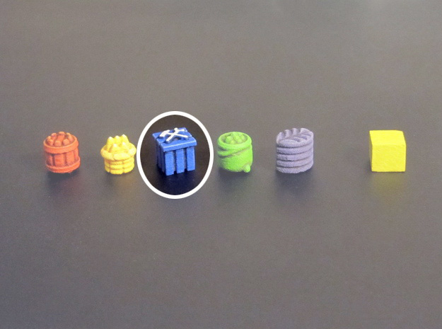 Crate tokens (13 pcs) in Blue Strong & Flexible Polished