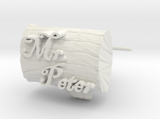 Peters Cuff Links in White Natural Versatile Plastic