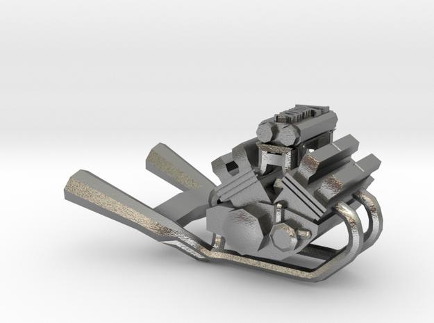 Yamaha Vmax engine miniature in Natural Silver
