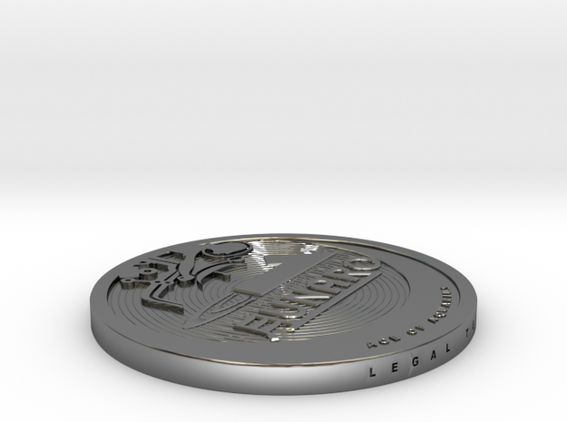 Old 2013 Lunaro Coin. 3d printed