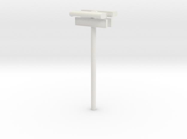 1/32 - DSB Stations lampe (dobbelt) med stations s in White Natural Versatile Plastic