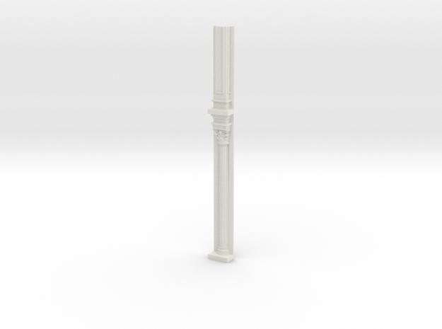 Miniature 1:48 Corinthian Pilaster in White Natural Versatile Plastic