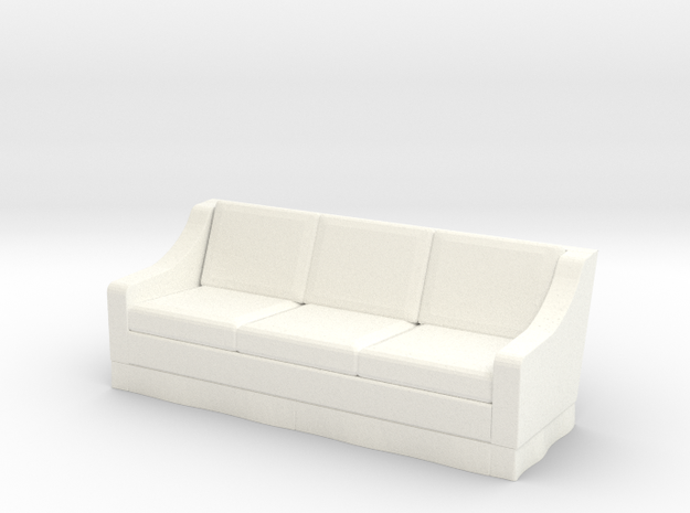 1:48 Skirt Sofa in White Processed Versatile Plastic