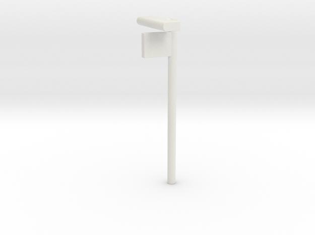 1/160 - DSB Stations lampe med Perronafsnits skilt in White Natural Versatile Plastic