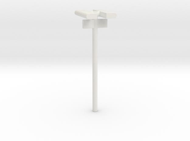 1/160 - DSB Stations lampe (dobbelt) med Spornumme in White Natural Versatile Plastic