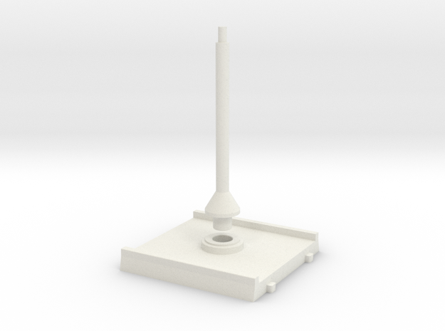 SW Base 40x40mm / SOLID in White Natural Versatile Plastic