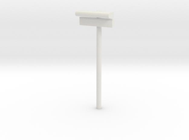 1/120 - DSB Stations lampe med stations skilt (VIA in White Natural Versatile Plastic