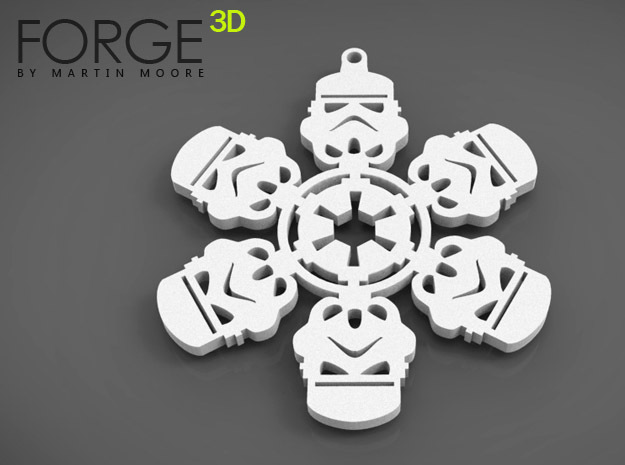 STORMTROOPER christmas snowflake decoration in White Strong & Flexible