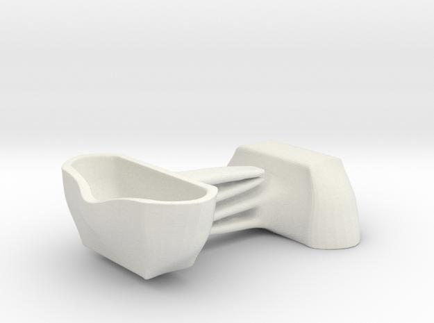 Voituré 'M' - Car Interior Flower Pot - 2 Set in White Natural Versatile Plastic