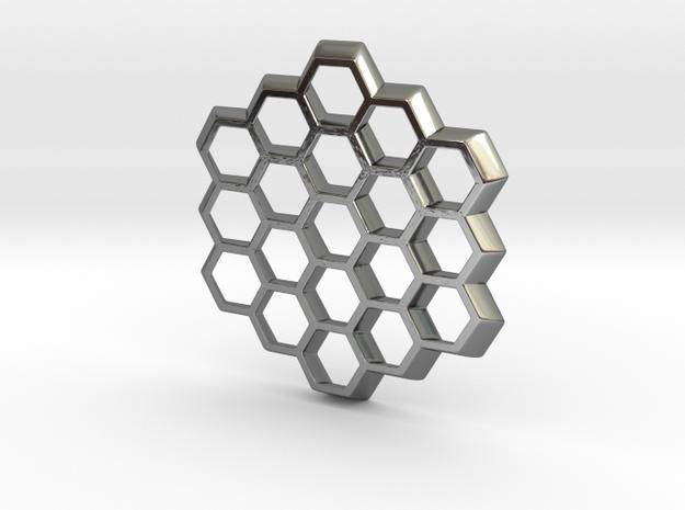 Honeycomb Slice Pendant 3d printed