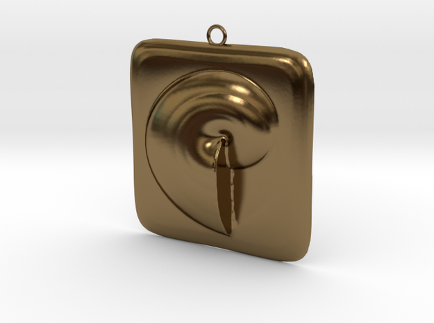 Beauty Shell Pendant  in Polished Bronze