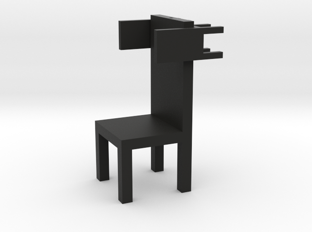 SELF CHAIR by RJW Elsinga 1:10 in Black Natural Versatile Plastic