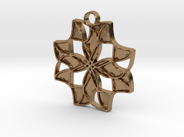 Falling Star in Natural Brass