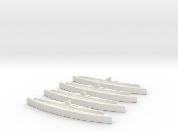 U-48 (Type VIIB U-Boat) 1/1800 x4