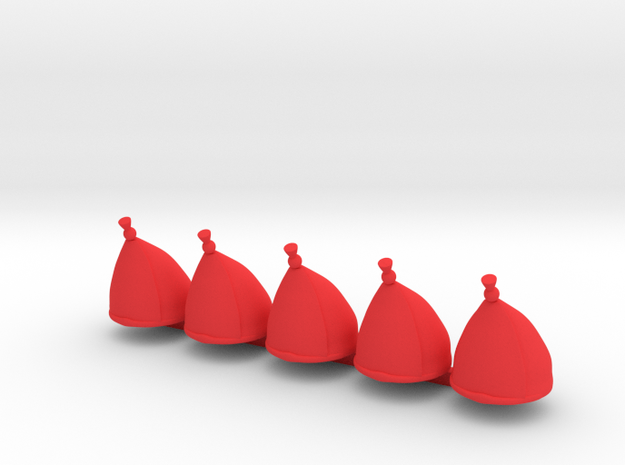 5 x Grenadier Hats 3d printed