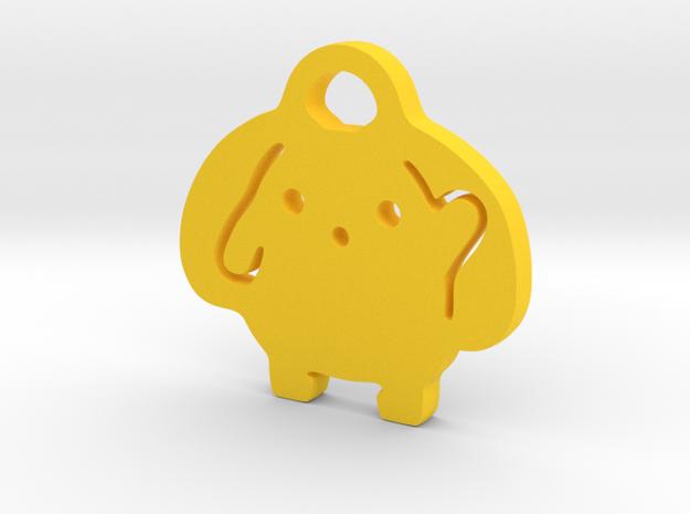 Wooser Key Chain in Yellow Processed Versatile Plastic