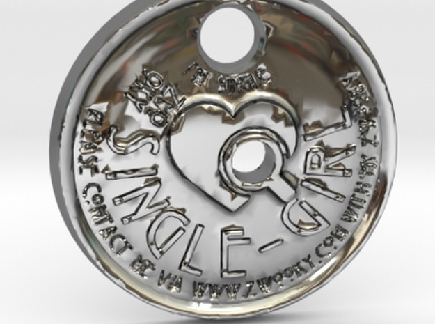 ZWOOKY Style 121 Sample - keychain I am single in Premium Silver