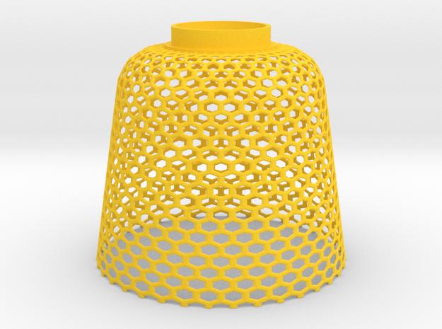Lampshade beehive in Yellow Processed Versatile Plastic