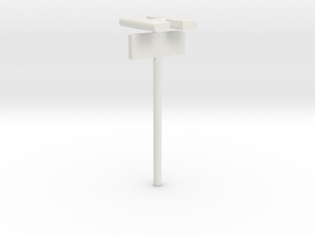 1/160 - DSB Stations lampe (dobbelt) med Perronafs in White Natural Versatile Plastic