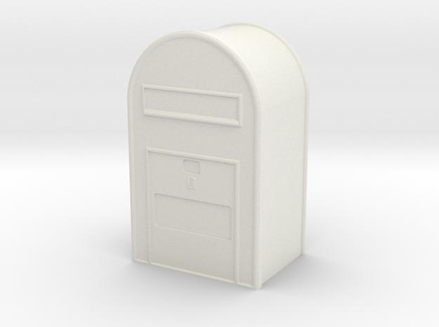 1/22,5 Post Danmark - Postkasse  in White Natural Versatile Plastic