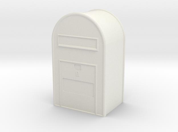 1/32 Post Danmark - Postkasse  in White Natural Versatile Plastic
