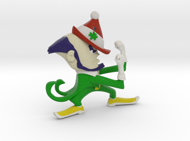 Fighting Irish Christmas Style (ornament) in Full Color Sandstone