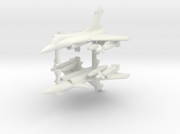 1/285 Dassault Rafale (Strike Loadout) (x2) in White Natural Versatile Plastic