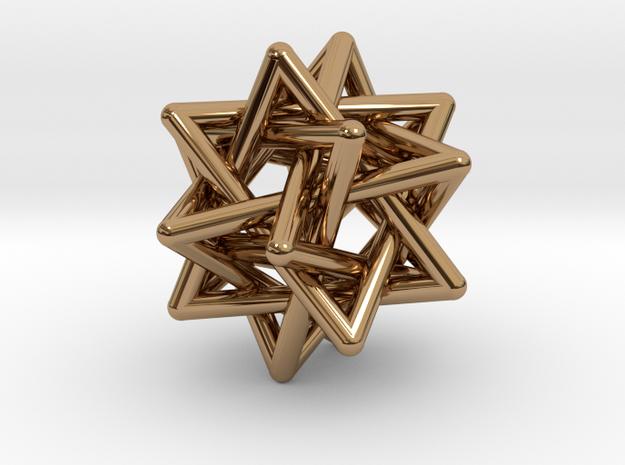 Merkaba Pendant in Polished Brass
