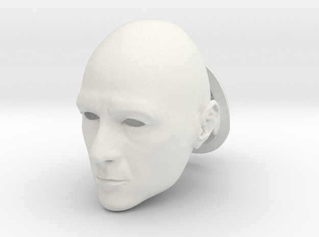Anthony Stark BJD head SD size in White Strong & Flexible