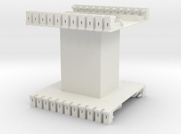 AMCC10 c-core bobbin - single chamber in White Natural Versatile Plastic