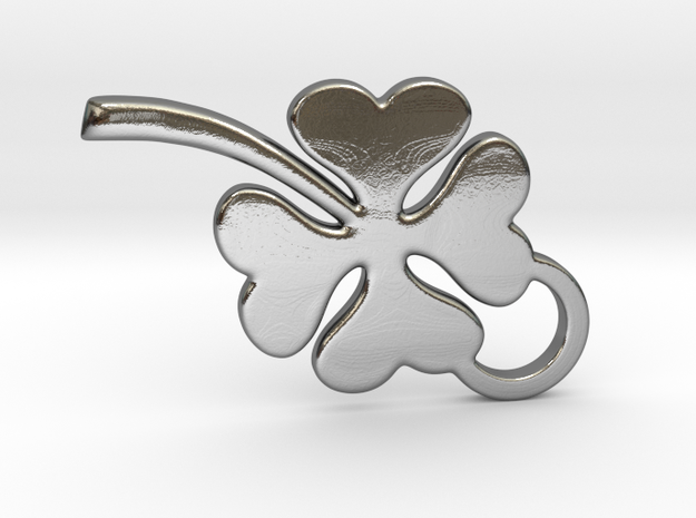 Clover in Polished Silver