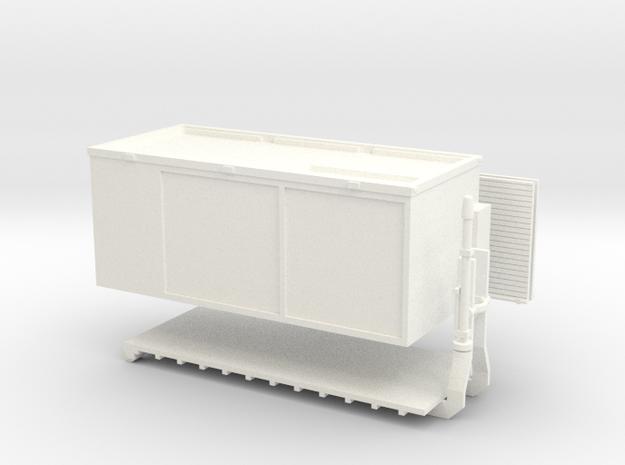 Abrollbehälter Rüst der Flughafenfeuerwehr Hamburg in White Processed Versatile Plastic