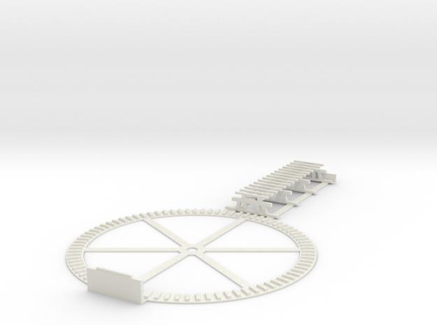 Stuart, VA turntable pit & 39' trestle - HO scale in White Natural Versatile Plastic