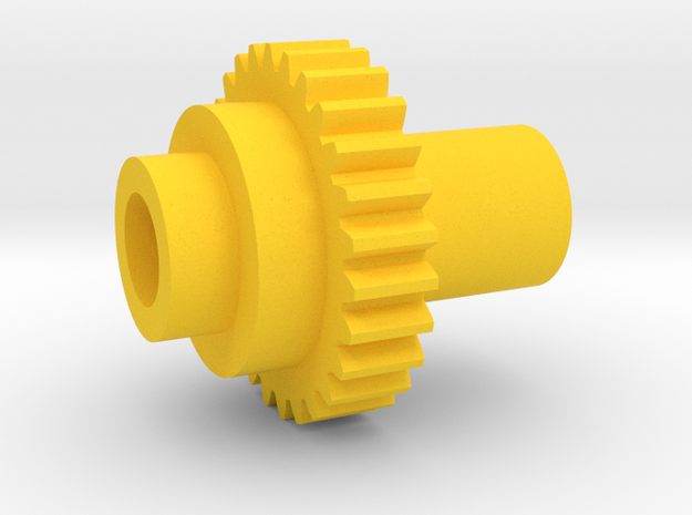 Inventing Room Key Left Gear (8 of 9) in Yellow Processed Versatile Plastic