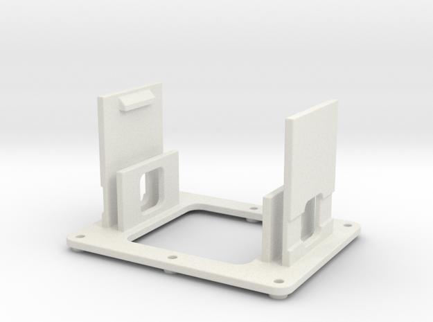 AMCC10 dual c-core mounting cradle v1 in White Natural Versatile Plastic