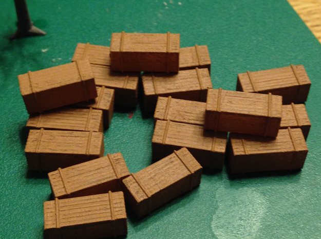 18 Stack Of Lumber 2x6x10 Z Scale  in Smooth Fine Detail Plastic