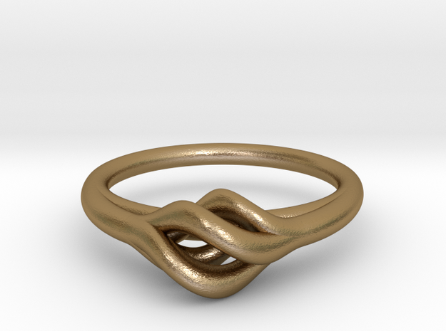 Twist Ring in Polished Gold Steel