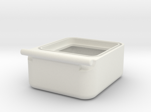 Transport Box Bottom 30mm in White Natural Versatile Plastic