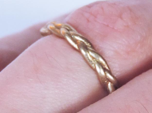 Braid Ring in Raw Brass