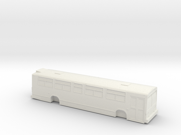 HO scale GM/MCI/nova classic bus 1 door in White Strong & Flexible
