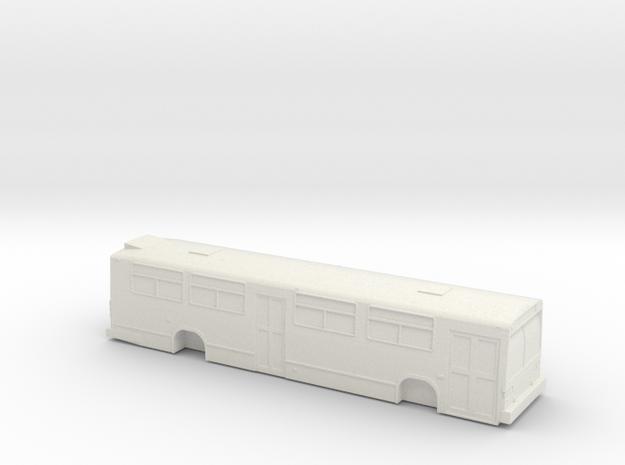 HO scale GM/MCI/nova classic bus 2 door in White Natural Versatile Plastic