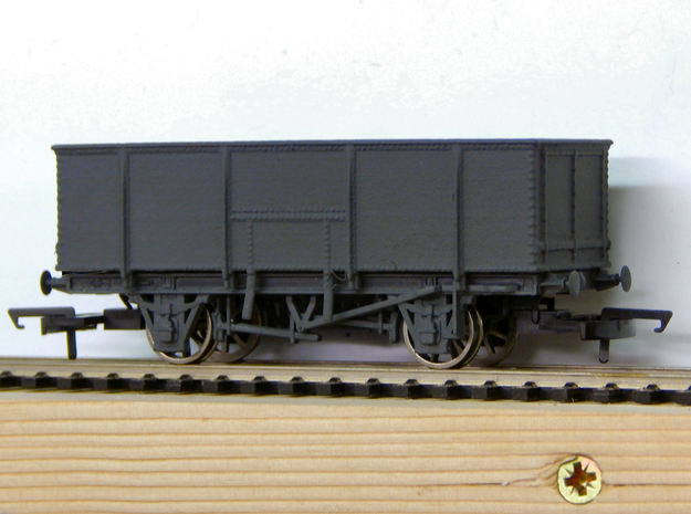 GWR N23 21T Mineral Wagon Body (00) in White Strong & Flexible Polished