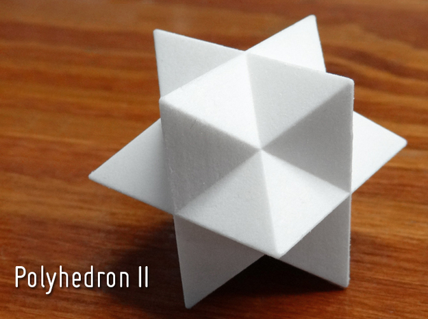 Polyhedron II-solid in White Processed Versatile Plastic