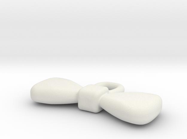Bowtie, Earring in White Natural Versatile Plastic