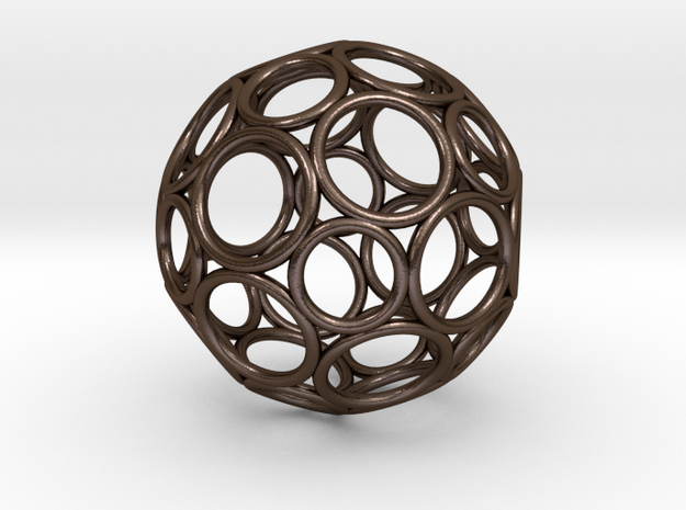 Alternative Buckyball Pendant in Polished Bronze Steel