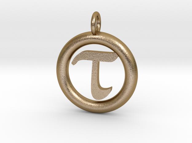 Tau Open Unit(cm) Pendant in Polished Gold Steel