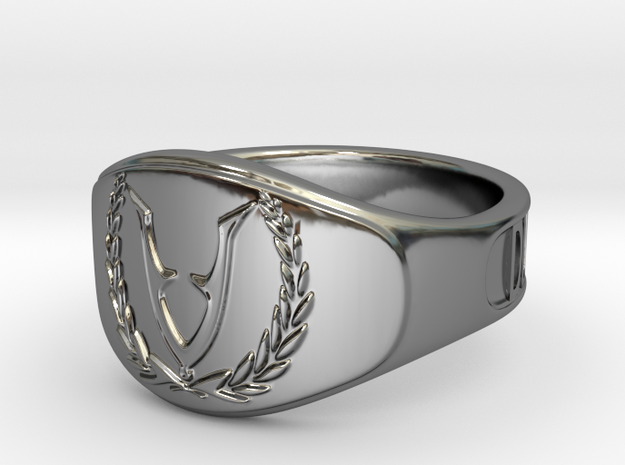 RingVet-Text-21Diam in Fine Detail Polished Silver