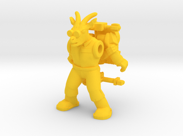 Angon Ghoatbuster Figure (plastic) in Yellow Strong & Flexible Polished