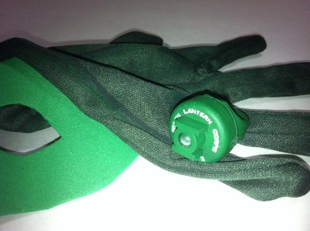 Green Lantern Ring Designed for High Intensity LED 3d printed